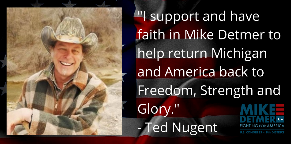 Ted Nugent Endorses Mike Detmer For US Congress